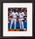 Alex Rodriguez & Derek Jeter - Vertical/Pinstripes Framed Photographic Print