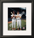 Frank Robinson and Brooks Robinson COLOR Framed Photographic Print