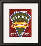Hot Dogs Poster by Catherine Jones