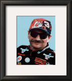 Dale Earnhardt Portrait With Tazz Hat Framed Photographic Print