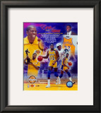 Magic Johnson Hall of Fame PF Gold Composite Framed Photographic Print