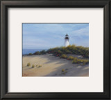 Lighthouse on the Shore Print by Vivien Rhyan
