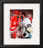 Maxime Talbot & Marian Hossa Game 7 of the 2008-09 NHL Stanley Cup Finals Framed Photographic Print