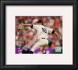 Matt Cain Game Two of the 2010 World Series Action Framed Photographic Print
