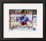Henrik Lundqvist 2010-11 Action Framed Photographic Print