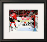 Dustin Byfuglien Game Five of the 2010 NHL Stanley Cup Finals Goal Framed Photographic Print