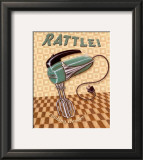 Nifty Fifties, Rattle Poster by Charlene Audrey