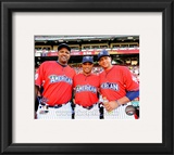 CC Sabathia, Robinson Cano &amp; Alex Rodriguez 2010 MLB All-Star Game Framed Photographic Print
