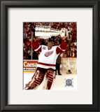Dominik Hasek with the 2002 Stanley Cup 11 Framed Photographic Print
