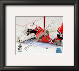 Antti Niemi Game Five of the 2010 NHL Stanley Cup Finals Framed Photographic Print