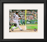 Miguel Cabrera 2010 Action Framed Photographic Print