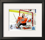 Michael Leighton 2009-10 NHL Stanley Cup Finals Game 3 Framed Photographic Print