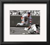 Dustin Pedroia 2010 Spotlight Action Framed Photographic Print