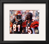 Terrell Owens & Chad Ochocinco 2010 Action Framed Photographic Print