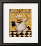Le Chef et le Menu Prints by Daphne Brissonnet