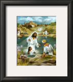Baptism at River's Edge Art by  Lopez