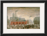 An Accident Print by Laurence Stephen Lowry
