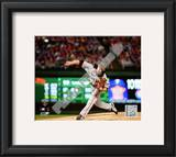 Tim Lincecum Game Five of the 2010 World Series Action Framed Photographic Print
