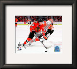 Patrick Kane Game One of the 2010 NHL Stanley Cup Finals Framed Photographic Print
