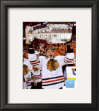 Patrick Kane with the 2009-10 Stanley Cup Framed Photographic Print