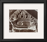 Polo Grounds - Aerial view, sepia Framed Photographic Print