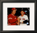 Johnny Bench / Carl Yastrzemski Framed Photographic Print
