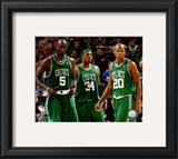 Kevin Garnett , Paul Pierce, and Ray Allen Framed Photographic Print