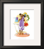 Bath Time Giggles (Girl) Posters by Sylvia Walker