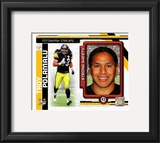 Troy Polamalu 2010 Studio Plus Framed Photographic Print