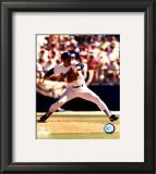 Nolan Ryan - Rangers - Pitching white uniform Framed Photographic Print