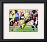Hines Ward 2010 Action Framed Photographic Print
