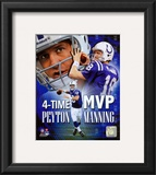 Peyton Manning 4 X MVP Portrait Plus Framed Photographic Print