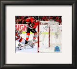 Patrick Kane Game Five of the 2010 NHL Stanley Cup Finals Goal Framed Photographic Print