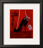 High Heels Paris Poster by Matla Jennifer