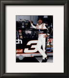 Dale Earnhardt Portrait In Daytona Victory Lane Framed Photographic Print