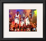 Dwyane Wade, LeBron James, & Chris Bosh 2010 Welcome Party Framed Photographic Print