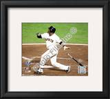 Juan Uribe Game One of the 2010 World Series Action Framed Photographic Print