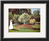 Lady in a Garden Prints by Claude Monet