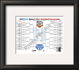 Duke University Blue Devils NCAA 2010 Nationals Championship Bracket Framed Photographic Print