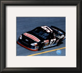 Kurt Busch Car In Action - Side View Framed Photographic Print