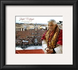 Pope Benedict XVI - Horiz.(Crowd) Framed Photographic Print
