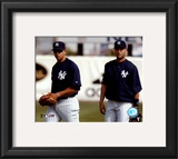 Alex Rodriguez and Derek Jeter - 2004 Spring Training Framed Photographic Print