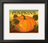 Pumpkins Prints by Diane Pedersen