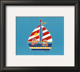 Bear in a Sailboat Prints by Shelly Rasche
