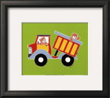 Bear in a Truck Poster by Shelly Rasche