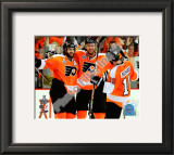 Mike Richards, Simon Gagne, & Jeff Carter 2010 NHL Stanley Cup Finals Framed Photographic Print