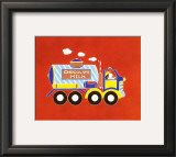 Dog in Milktruck II Print by Shelly Rasche