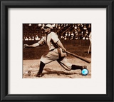 Honus Wagner - Batting, sepia Framed Photographic Print