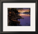 Canoe at the Cabin Posters by Ervin Molnar