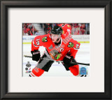 Jonathan Toews Game One of the 2010 NHL Stanley Cup Finals Framed Photographic Print